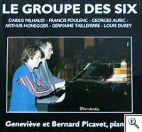 Le groupe des Six - Milhaud, Poulen, Auric, Honegger, Tailleferre, Durey